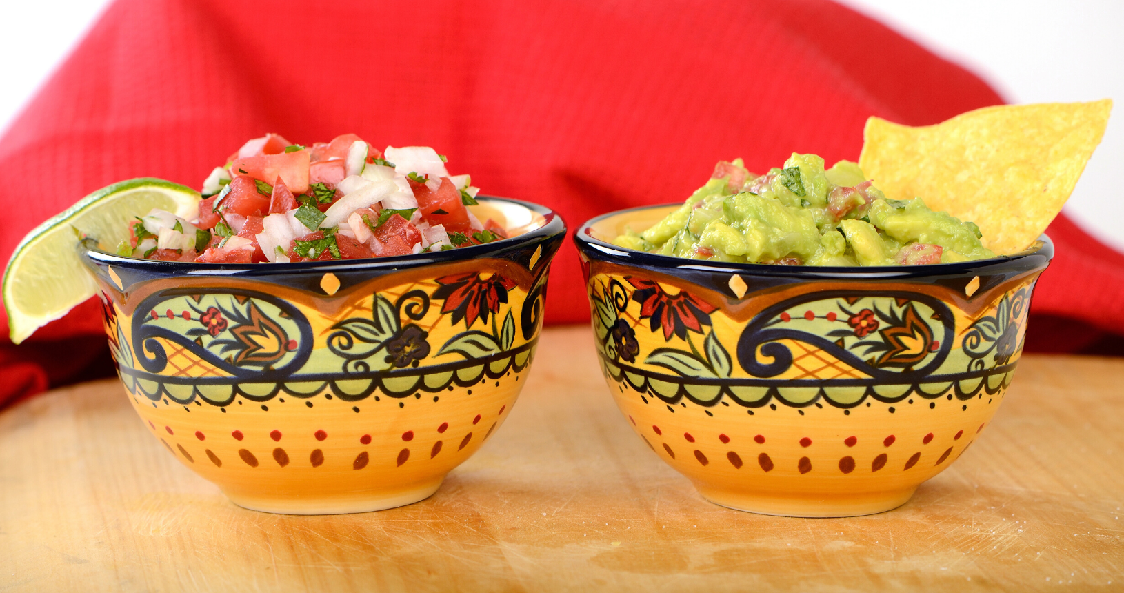 guac and pico de gallo
