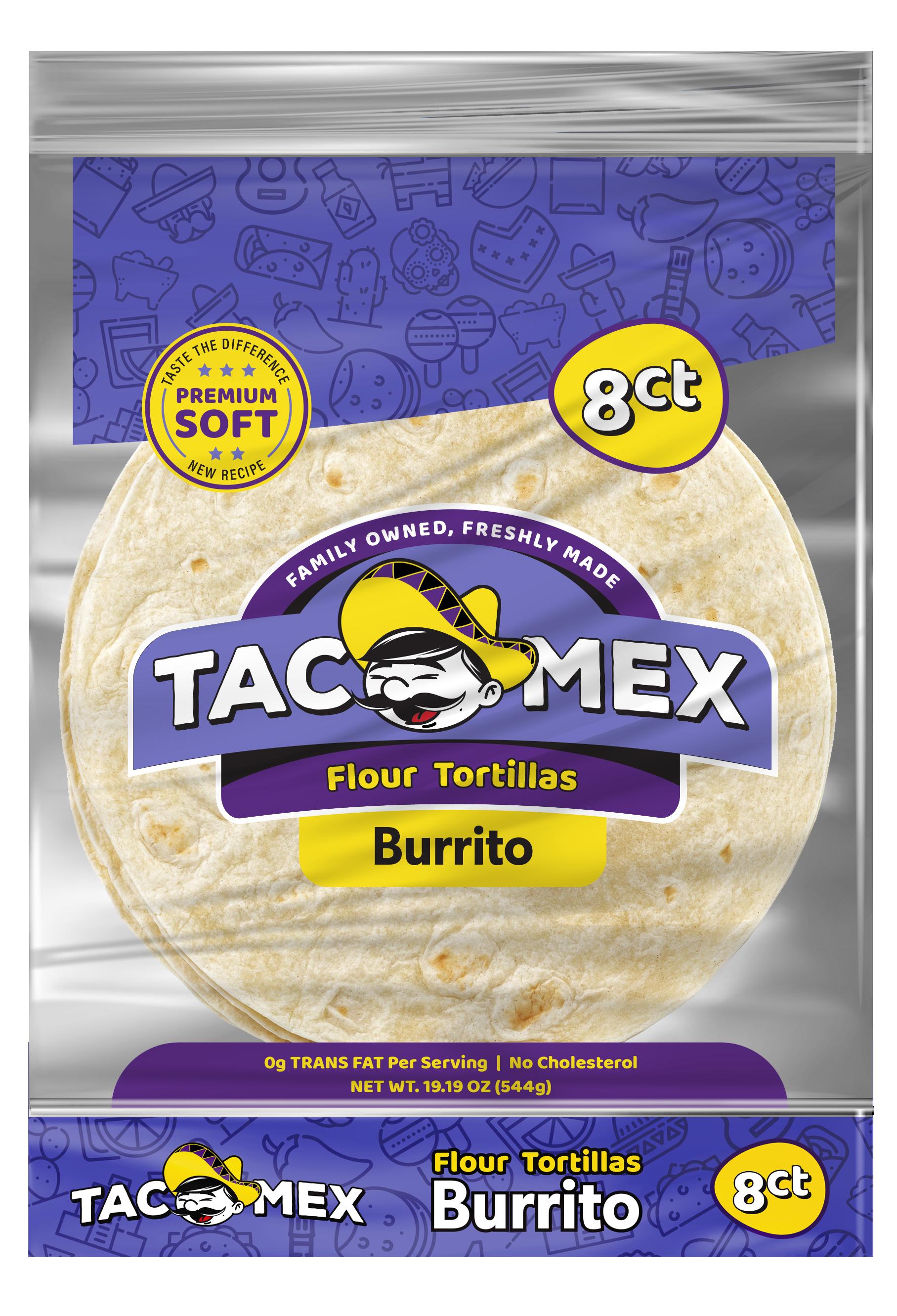 Tacomex burrito flour tortilla