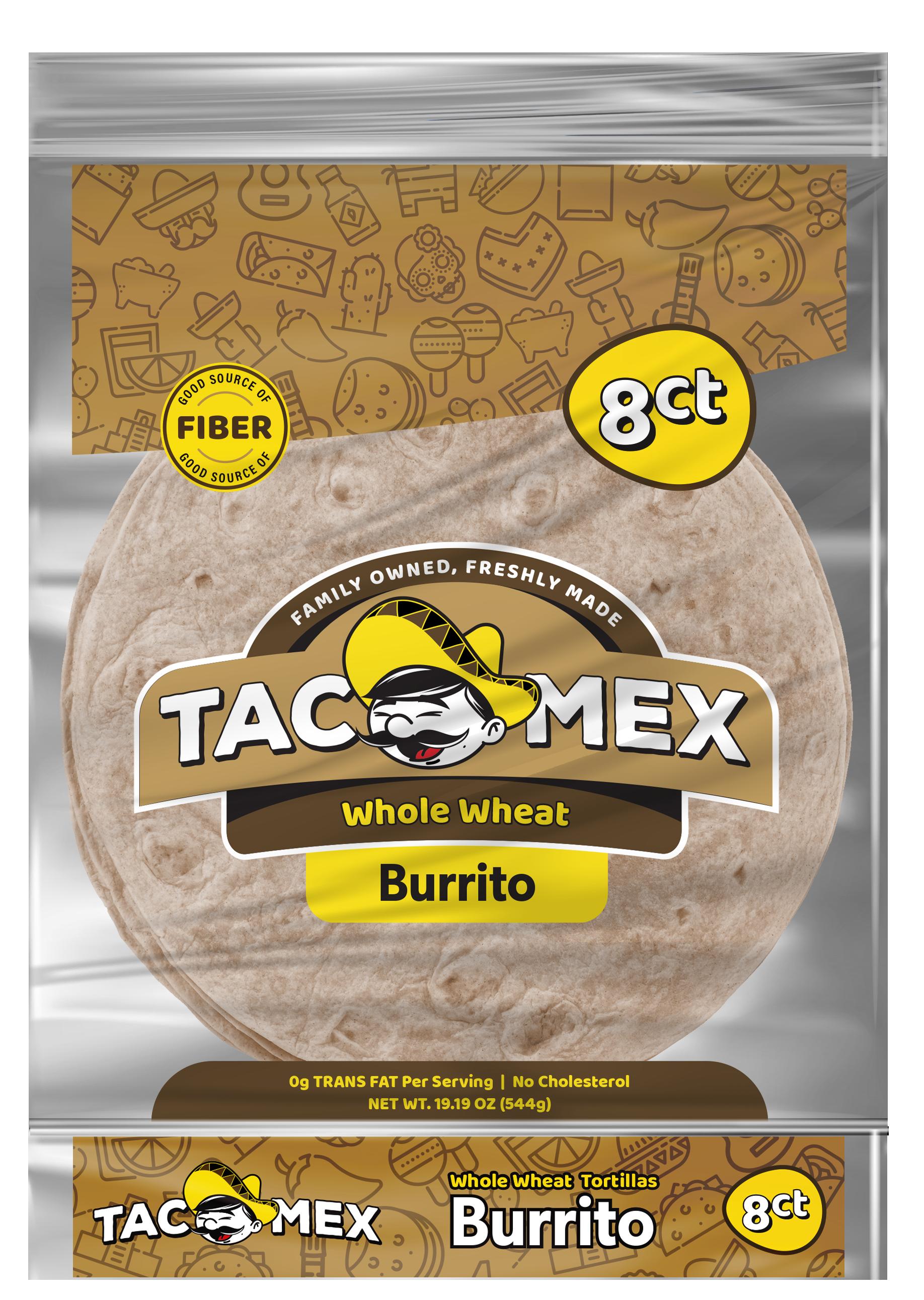 Tacomex burrito whole wheat tortilla