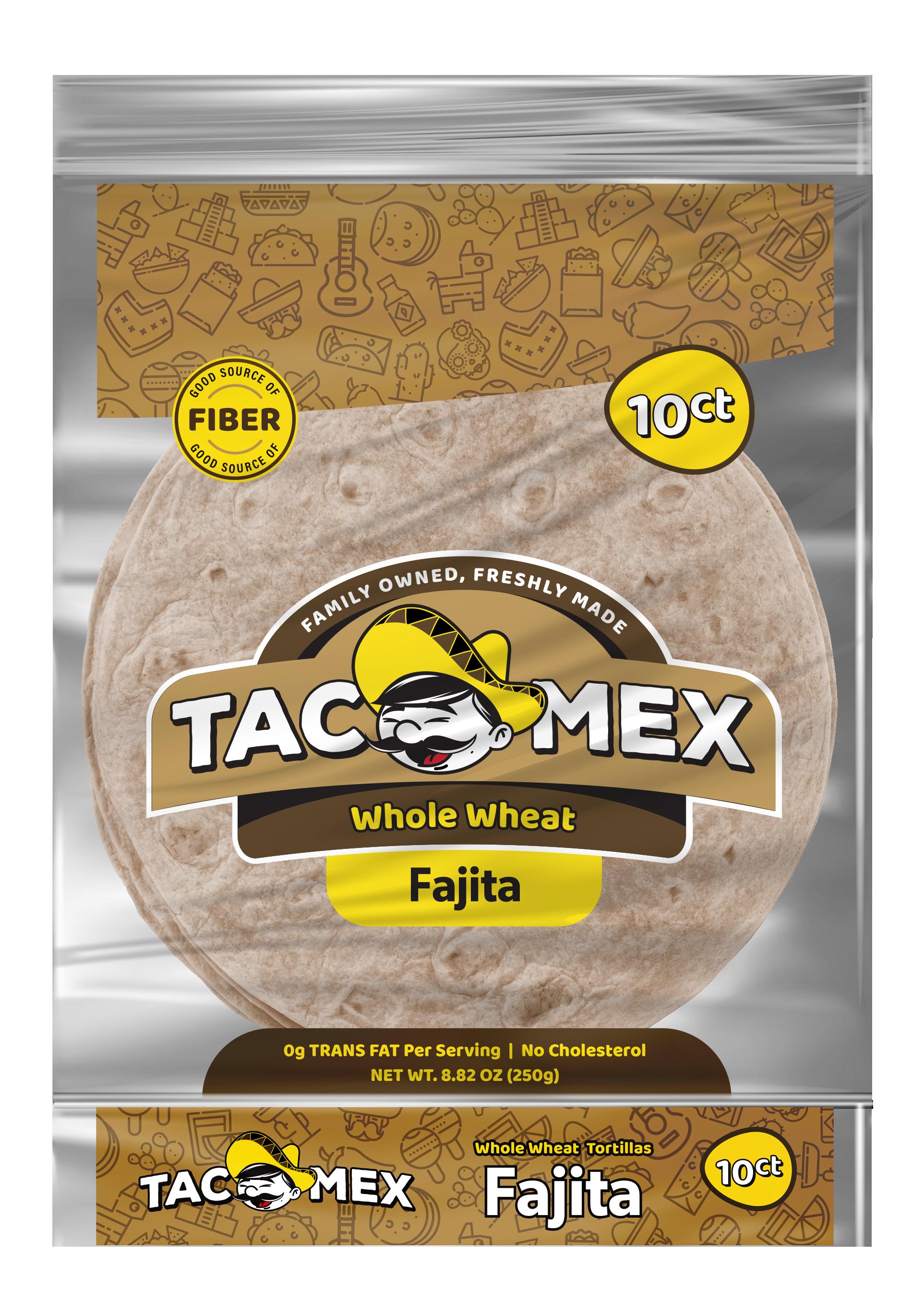 Tacomex fajita whole wheat tortilla
